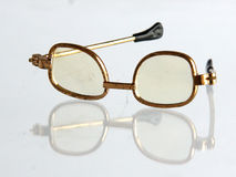 Vintage doll spectacles Stock Images