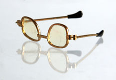 Vintage doll spectacles Royalty Free Stock Photography