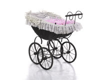 Vintage doll stroller Stock Photo