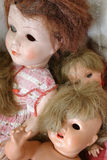 Vintage dolls. Discovered in the attic Royalty Free Stock Photography