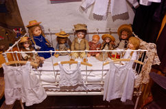 Vintage dolls collection Royalty Free Stock Photos