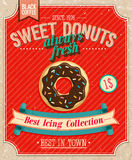 Vintage Donuts Poster. Royalty Free Stock Photography