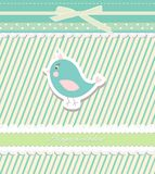 Vintage doodle bird for frame wallpaper  Royalty Free Stock Photography