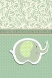 Vintage doodle elephant for frame wallpaper vector Stock Image