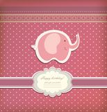 Vintage doodle elephant for frame wallpaper vector Royalty Free Stock Photography