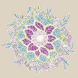 Vintage doodle flower. Vector illustration. Stock Photography