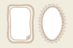 Vintage doodle frames Stock Images