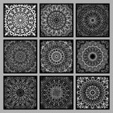 Vintage doodle mandala ornament in Indian style background. Royalty Free Stock Photo