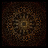 Vintage doodle mandala ornament in Indian style background. Royalty Free Stock Image