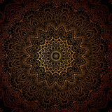 Vintage doodle mandala ornament in Indian style background. Royalty Free Stock Images