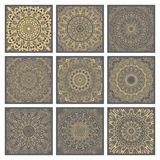 Vintage doodle mandala ornament in Indian style background. Stock Photos