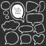 Vintage doodle speech bubbles. Different sizes and forms. royalty free illustration