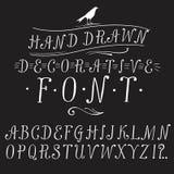 Vintage  doodle vector font. Hand drawn vintage vector ABC letters. Lovely doodle decorative font for your design Stock Images
