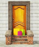 Vintage  door Royalty Free Stock Images
