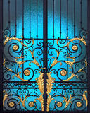 Vintage Door with Alloy Steel Decoration Royalty Free Stock Photography