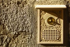 Vintage door bell Royalty Free Stock Images