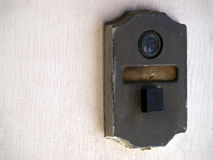 Vintage door bell peep hole Stock Photography