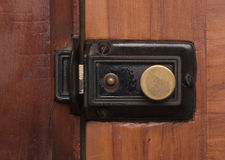 Vintage door bolt and lock Royalty Free Stock Image