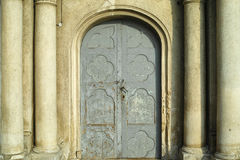 Vintage door from the church Stock Images