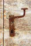 Vintage door handle on island Susak Stock Photo