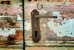 Vintage door handle on island Susak Royalty Free Stock Photo