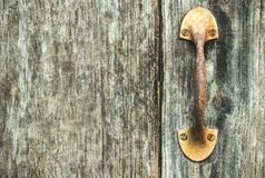 The vintage door handle rust. Royalty Free Stock Photo