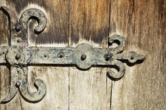 Vintage Door Hinges Royalty Free Stock Photography