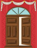The vintage door for interior. Stock Image