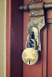 Vintage door lock Stock Photo