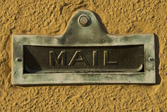 Vintage Door Mail Slot Royalty Free Stock Photography