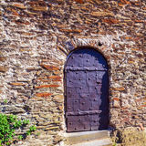 Vintage Door of Medieval Castle, Germany Royalty Free Stock Photography