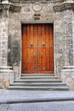 Vintage door on Old Havana stock image