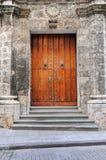 Vintage Door On Old Havana Stock Image