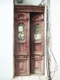 Vintage door in retro style Royalty Free Stock Photo