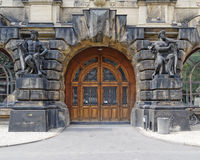 Vintage door and statues, Dresden Germany Royalty Free Stock Photos