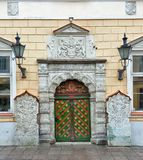 Vintage door. Streets of Tallinn Royalty Free Stock Image