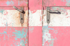 Vintage door on the train compartment royalty free stock photo