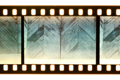 Vintage door and wall on film strip Royalty Free Stock Image