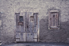 Vintage door and window Stock Photos