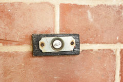 Vintage doorbell button Royalty Free Stock Image