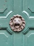 Vintage doorknob with lions face Stock Images