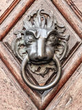Vintage doorknob with lions face Royalty Free Stock Image