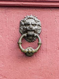 Vintage doorknob with lions face Royalty Free Stock Photo