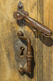 Vintage doorknob and lock Stock Photos