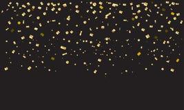Vintage dos confetes do ouro ilustração royalty free