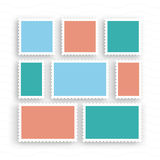Vintage dos selos postais Imagens de Stock Royalty Free