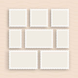 Vintage dos selos postais Fotos de Stock Royalty Free