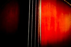 Vintage double bass Royalty Free Stock Images