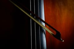 Vintage double bass Royalty Free Stock Photo