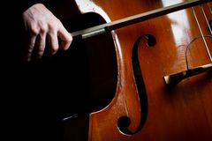 Vintage double bass Stock Photography